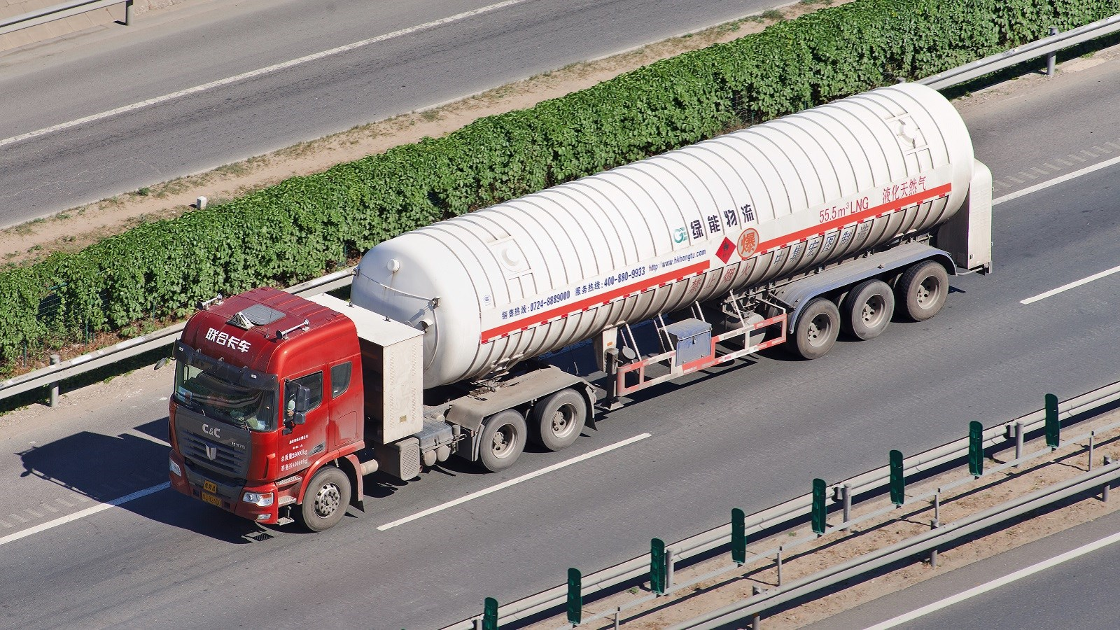 China: LNG trucks