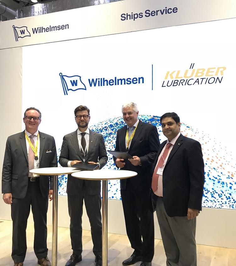 Wilhelmsen strengthens portfolio with unique Klüber Lubrication