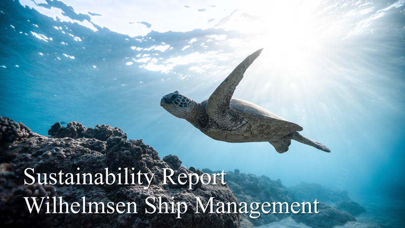 Sustainability report - Wilhelmsen Ship Management