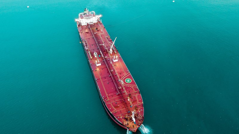 oil tanker blue seas