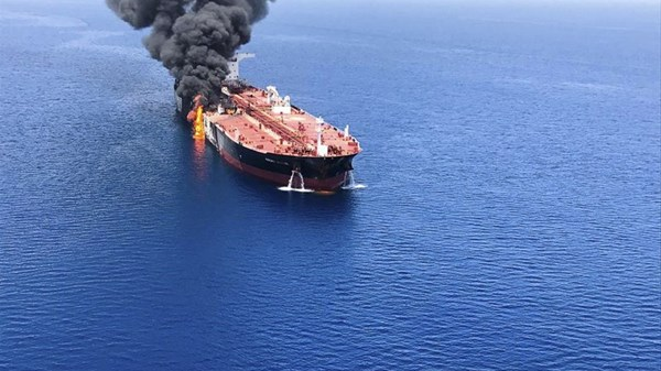 Tanker on fire 2 - AP news