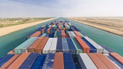suez canal - container ship